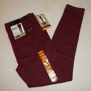 Seven7 Size 12 Maroon High Rise Skinny Jeans NWT